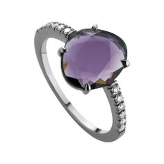 Ring Double Rose Classic, Spinell lila