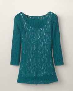 Pointelle swirl sweater  COMES IN 5 COLORS!
