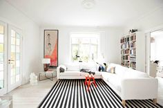 Black-And-White-Striped-Rug-Target