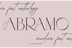 ABRAMO// Modern Font Duo by PeachCreme on @creativemarket