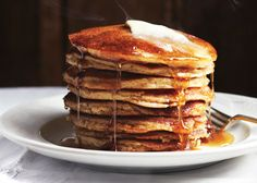 Blackberry Farm Griddle Cakes: swap buttermilk with yogurt and the butter with applesauce or coconut oil