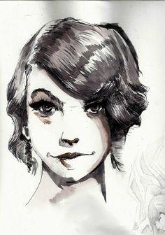portrait encre