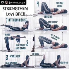 Do you have lower back pain? Here are a few simply moves you can try. #Repost @jasmine_yoga with @repostapp ・・・ #JasmineYogaTutorial : Strengthen #lowerback #lowbackstrength A few ways to work your lower back without hurting yourself. A great therapy for