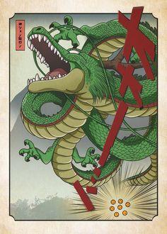 Dragon Ball Z, Sheng Long, Poster Anime, Goku Drawing, Japanese Artwork, Beautiful Dragon, Japanese Graphic Design, Z Arts, Japanese Dragon