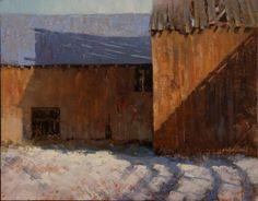Jerolyn Dirks - Barn Shadows, 11 x 14, oil