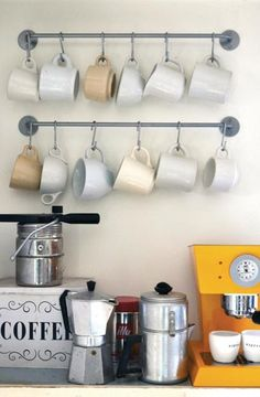 Coffee/tea station for team members and hosting guests. Nothing says hospitality like offering a guest some tea, coffee or other beverage.