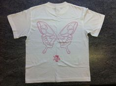 Girls White BARBIE MARIPOSA Butterfly T-Shirt. UK Junior size Small. BNWTO