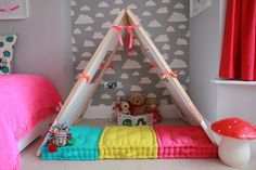 Zona de juego infantil http://www.mamidecora.com/habitaciones%20infantiles_cuartos_de_juegos.html