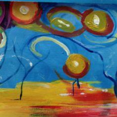 Fantasia. New acrylic painting