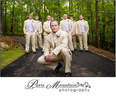 Real Wedding Paris Mountain Photography groomsmen wedding group photos Indigo Falls Events Dallas, GA