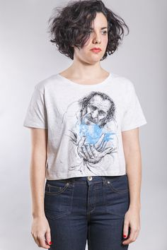 Bukowski Crop Woman Melange White