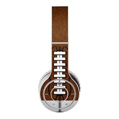 Football Design Protective Decal Skin Sticker (High Gloss Coating) for Beats Wireless Headphone (Headsets not included) Dre Headphones, Over Ear Headphones, Decal, Sticker, Football Design, Beats By Dre, High Gloss, Badass, Music Instruments
