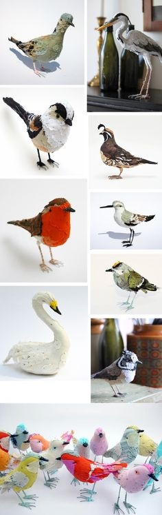 Amazing fiber birds by Abigail Brown