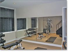Mirrored Exercise Room