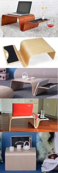 The Bamboo Wooden Laptop Notebook Apple MacBook Mobile Lap Desk for Bed and Couch AirDesk Stand Holder Mouse Pad iPhone iPad Smart Phone Holder Dock Mount is a great gift idea for those who spent endless hours in front of their laptop
