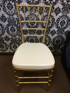 The Gold Chiavari Chair Rental! Chiavari Chairs, Dining Chairs, Chair Cover Rentals, Gold, Furniture, Home Decor, Decoration Home, Room Decor, Dining Chair