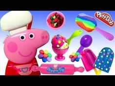 Play doh ice Cream Shop Frozen Cake Videos
