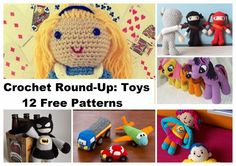 Free Crochet Round-Up: Toys. Alice, Batman, My Little Pony, Cars - Free Crochet Pattern