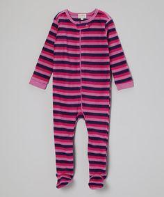 Love this Pink Stripe Footie - Infant, Toddler & Kids by Leveret on #zulily! #zulilyfinds
