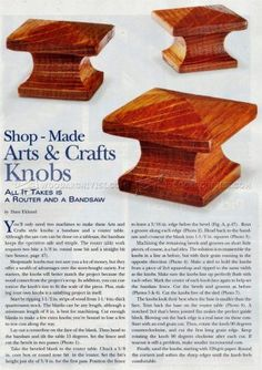 #1045 Making Arts and Crafts Knobs - Drawer Construction