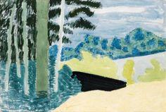 Milton Avery, Lakeside Trees, 1953
