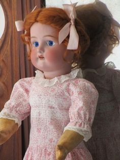 Antique doll bisque  (porcelain)  in impeccable condition with an antique composition body. The wig is made of mohair. The eyes are glass (they are not the original ones) and fixed. It measures about 63 cm. The dress and underwear made to measure following the old models.  On the back of the head is marked with No. 1912 and No. 6 and a cross. Attributed to the CUNO & OTTO DRESSEL brand
