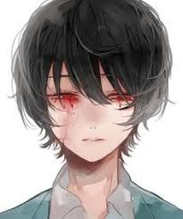 20+ Anime Male Black Hair Red Eyes Background