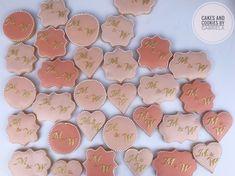 #cookies #weddingcookies #decoratedcookies #cakesandcookiesbygabriela Wedding Cookies, Cookie Decorating, Desserts, Tailgate Desserts, Deserts, Postres, Dessert, Plated Desserts