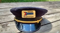Vintage Amtrak Trainman Railroad RR Hat Cap Size 7 3/8 Hard Too Find Railroad Collectible