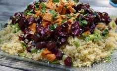 The Gush Gourmet: Quinoa Salad with Roasted Sweets and Beets and Tah...