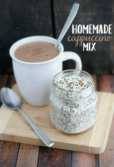 Homemade Cappuccino Mix - Food Meme - Start your morning off with a boost! Try this homemade cappuccino mix recipe for an easy and budget-friendly to make your daily cup of coffee! The post Homemade Cappuccino Mix appeared first on Gag Dad. Coffee Mix, Best Coffee, Coffee Drinks, Coffee Cups, Cappuccino Coffee, Iced Coffee, Coffee Enema, Coffee Maker, Starbucks Coffee