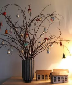 Twig Tabletop Tree KW   Maybe Cover The Twigs In Sparkles Or A Prettier  Vase And