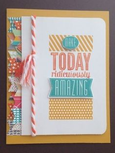 Amazing Birthday Flash Back - Fussy Card (via Bloglovin.com )  Stampin' Up! Hand Made Greeting Cards, Making Greeting Cards, Washi Tape Uses, Masculine Birthday Cards, Card Sentiments, Card Making Inspiration, Paper Cards, Cool Cards, Kids Cards