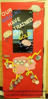 Classroom Olympic Themed Doors for Testing Motivation