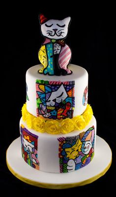 Ode to Romero Britto. Handpainted