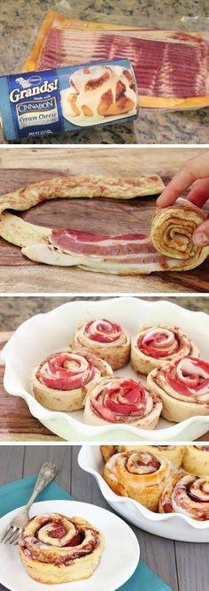 Bacon Cinnamon Rolls - Joybx