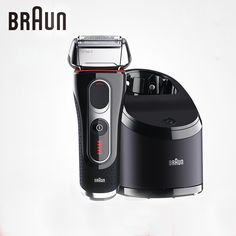 Braun Electric Shavers 5090cc For Men Shaving Rechargeable Barbeador Washable Cleaning Center Safety Razors #Affiliate