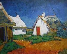 """Vincent Van Gogh . """"Sainte-Marie choza blanca"""" 1888"""
