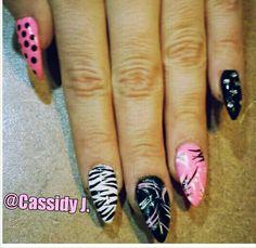 Fab stiletto nail art