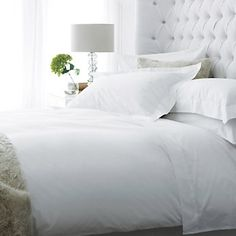 200 Thread Count Egyptian Cotton Percale - Bed Linen | The White Company