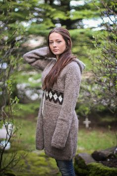 Handknitted design cardigan from 100% icelandic wool. Gorgeous!