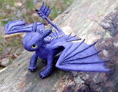 Purple Toothless Night Fury toothless dragon sculpture