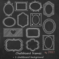Hand drawn by EphrazyDesign Chalkboard Labels, Framed Chalkboard, Drawing Frames, Chalkboard Background, Invitation Design, Scrapbook Paper, Digital Scrapbooking, My Design, How To Draw Hands