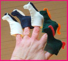 felt puppet horses