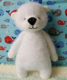 Items similar to Mr White - cute fluffy crochet bear on Etsy Handmade Stuffed Animals, Crochet Bear, Children, Kids, I Shop, Fiber, Environment, Delicate, Teddy Bear