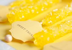 Here's our Mellow yellow photo gallery including pictures of luscious decor, fashion shoes, accessories and nature. Yellow Grey Weddings, Gray Weddings, Yellow Wedding, Yellow Candy, Red Candy, Candy Sweet, Grey Wedding Decor, Wedding Decorations, Wedding Favors