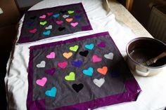 Textilcollage für Tasche