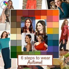 6 steps to wearing Autumn colors - How to wear, enjoy and co-ordinate colors from the AUTUMN color palette. You are in the right place about autumn outfits women dress Here we offer you the most beaut Fall Fashion Colors, Fall Fashion Outfits, Autumn Fashion, Autumn Outfits, Fashion Tips, Warm Spring, Warm Autumn, Styled By Susie, Soft Autumn Color Palette