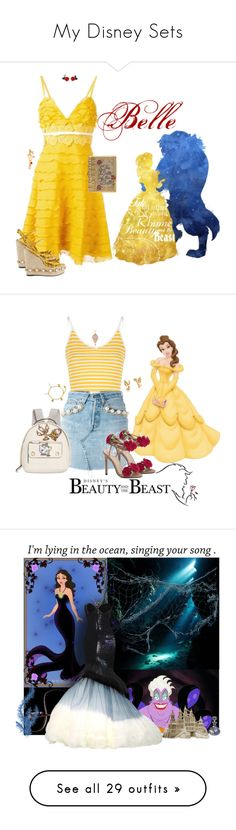 """My Disney Sets"" by seafreak83 on Polyvore featuring Disney, Giambattista Valli, Gucci, Judith Leiber, Glamorous, Forte Couture, Danielle Nicole, Alex Monroe, Delpozo and River Island"