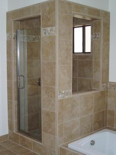 shower with a window
